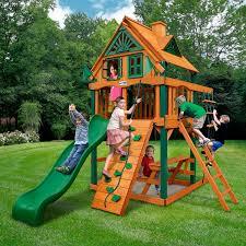 backyard discovery oakmont cedar wooden swing set walmartcom