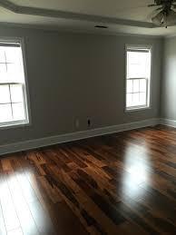 hardwood floors walnut chocolate stain grey paint