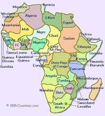 africa map labeled countries africa