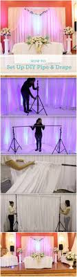 wedding backdrop setup how to set up a diy wedding backdrop diy pipe pipes and backdrops