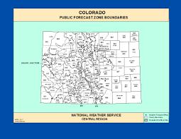 Colorado Weather Forecast Map by Maps Colorado Zone Forecast Boundaries