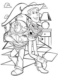 buzz lightyear woody sheriff toy story coloring pages boys