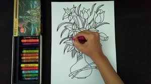 how to draw beautiful drawing how to draw and colour a beautiful flower pot flower pot drawing