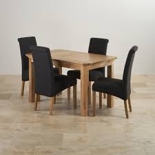 Oak Fabric Dining Chairs Edinburgh Dining Set In Natural Oak Extending Table 4 Chairs
