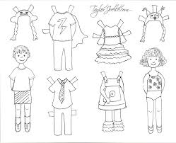 100 paper doll colouring pages crown archives u2022 paper