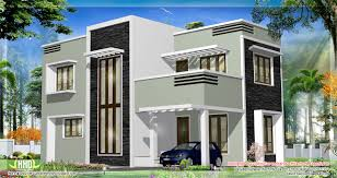 feet kerala flat roof home design house plans architecture plans