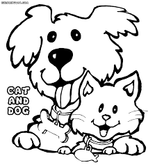 cat and dog coloring pages coloring pages to download and print