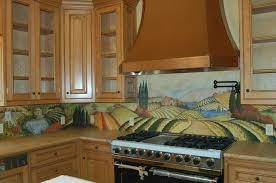 Kitchen Counter With Hand Painted Tile Backsplash Yelp - Painted tile backsplash