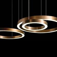 Pendant Lighting Copper Modern Copper Ring Led Pendant Lighting 10758 Free Ship Browse