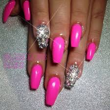 best 25 pink bling nails ideas on pinterest bridal nails