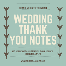 wedding gift note wedding thank you note wording generous wedding gifts