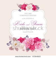 flower wedding invitation card save date stock vector 362022302