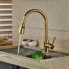 Faucets For Kitchen Sinks by Deck Mounted Gold Finish Kitchen Sink Faucet