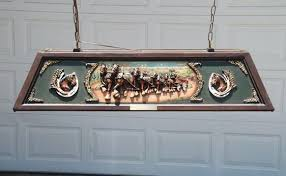 budweiser pool table light with horses budweiser pool table light for sale auctions auburn fall throughout