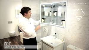 Recessed Bathroom Mirror Cabinets by Saneux Uk Inside In001 Semi Recessed Mirror Cabinet Youtube