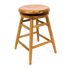 30 Inch Bar Stool Solid Medium Oak Backless Saddle 360 Swivel 30 Inch Bar Stool