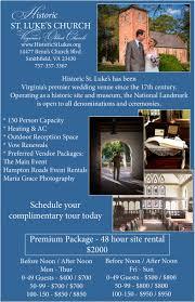 100 Wedding Ideas Venues U0026 by Wedding Venue Smithfield U0026 Virginia U2013 Historic St Luke U0027s
