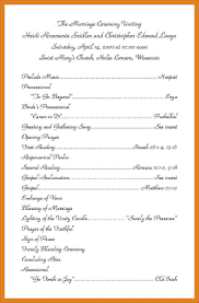 wording for wedding programs wedding programs wording notary letter