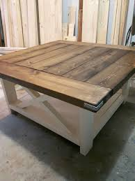 dark walnut coffee table 38 square coffee table in dark walnut and antique white paint love