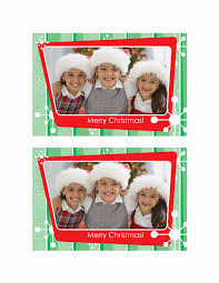 christmas photo card green stripes red photo frame office