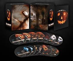 halloween the complete collection u0027 box art lights it up bloody