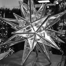 moravian tree topper lighted moravian light with 26 points