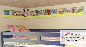Bunk Bed Storage Pockets Diy Pocket Front Facing Book Shelves For Onecreativemommy