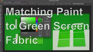 matching my green screen fabric with a green screen paint youtube