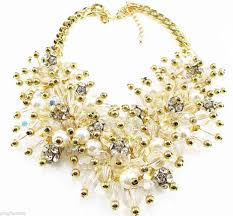 necklace pearl ebay images New fashion luxury rhinestone crystal bib statement neon chunky jpg