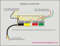 telephone junction box wiring diagram telephone wiring diagrams