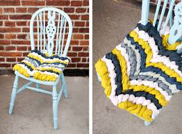 diy project friendship bracelet chevron chair cushion u2013 design sponge