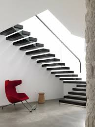 Free Standing Stairs Design 40 Stair Railings Of Glass Airy Feel In The Interior Design Of