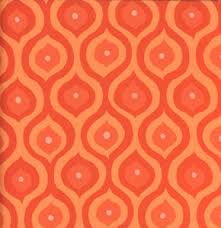 olive orange geometrics quilting fabric by valorie