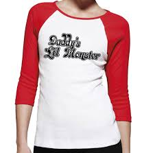 Halloween Shirt Costumes Daddy U0027s Lil Monster Ladies T Shirt Harley Quinn Costume