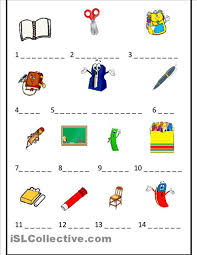 spanish worksheets for kindergarten objects worksheet free