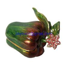 Crystal Keepsake Box Red Snail Animal Bejeweled Trinket Box Decorative Collectible