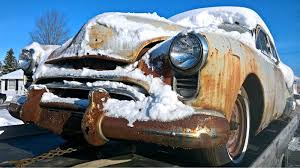 rusting in a winter wonderland 1949 oldsmobile 98