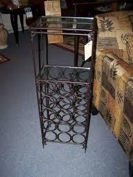 nice wrought iron and glass wine rack cherry pickin u0027s home