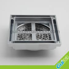 ningbo china supplier tile insert square floor waste grate