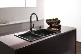 kitchen faucet finishes faucet k 560 2bz in rubbed bronze 2bz by kohler