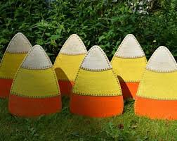 Halloween Outdoor Yard Decorations by 3 Candy Corn Yard Stakes Halloween Outdoor Yard Decorations
