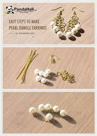 make dangle earrings jewelry tutorial easy steps to make pearl dangle earrings