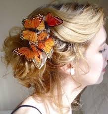 butterfly for hair ideas on how to incorporate butterfly into wedding day ensemble