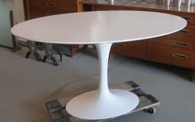 table personable saarinen oval tulip table modernism oak pedestal