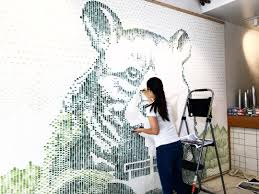 mural painting with celery stick youtube