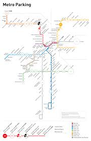 la metro rail map map shows metro s 20 000 parking spaces mostly free