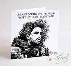 of thrones birthday card of thrones jon snow birthday card boyfriend