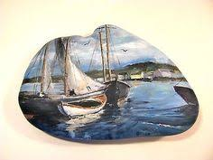 Nautical Painting Pin By Nina Golianová On Pebbles And Stones Boats Pinterest