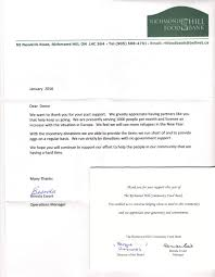 charity donation letter thank you charity events richmond hill old timers hockey league rhothl donation to richmond hill food bank letter
