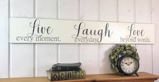 inspirational home decor live laugh love sign rustic wood sign bedroom wall decor